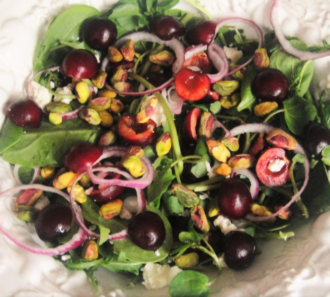 Cherry Pistachio Salad