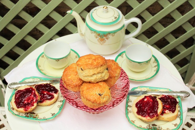 Scones with Rose Jam
