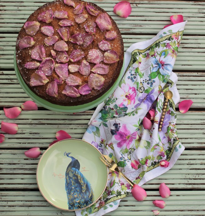 Rose and Pistachio cake 5
