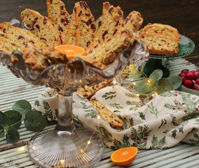Cranberry and Pistachio Biscotti 2