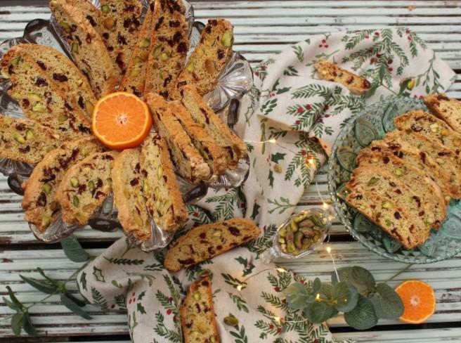 Cranberry and Pistachio Biscotti 3